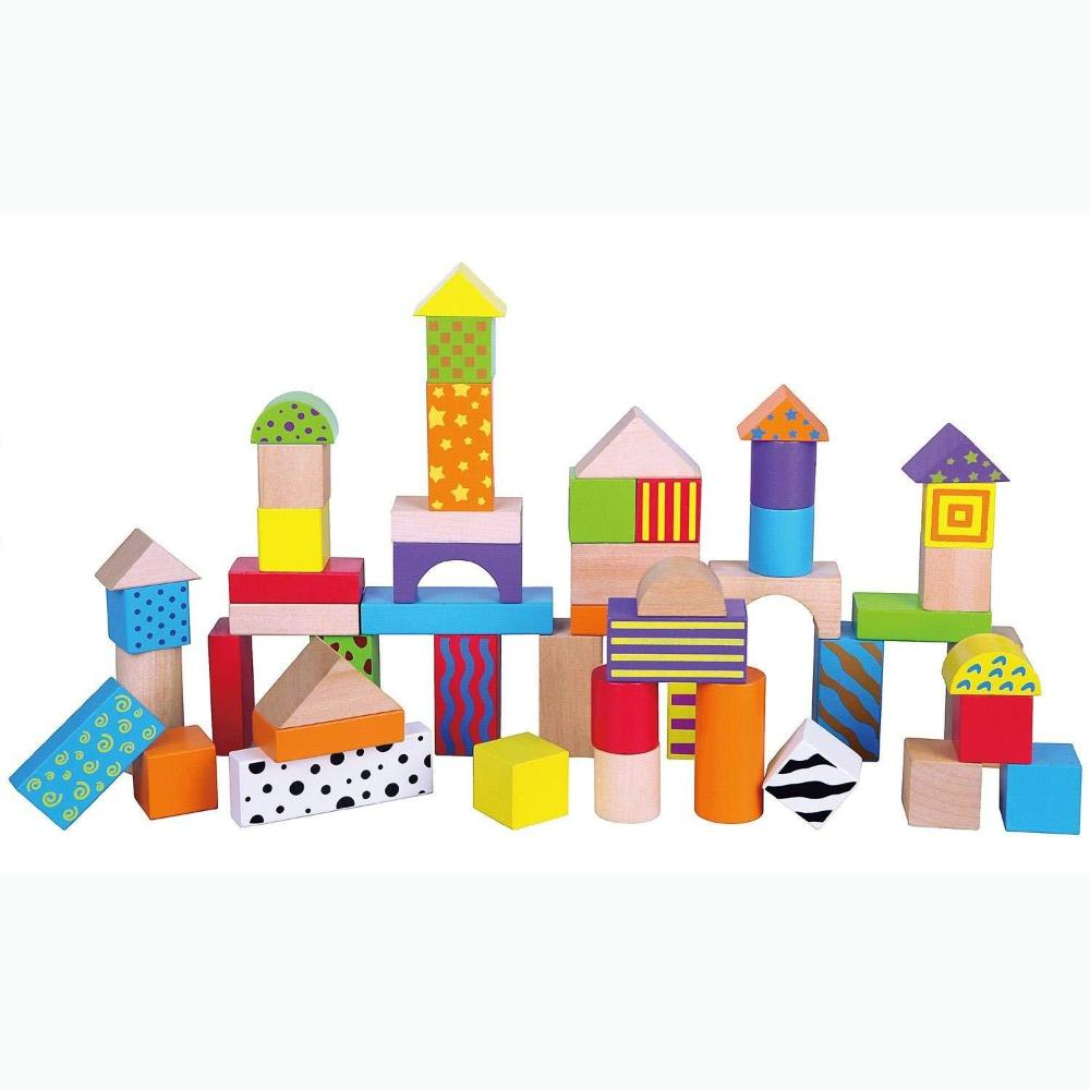 VIGA Colourful Block Set - 50 pcs