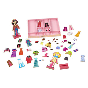 Melissa & Doug Best Friends Abby & Emma Magnetic Dress-Up Set