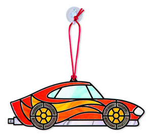 Melissa & Doug Peel 'n Press Stained Glass: Race Car Ornaments