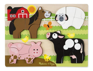Melissa & Doug Chunky Jigsaw Puzzle - Farm Animals