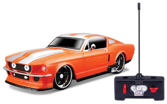 Maisto 1967 Ford Mustang 1/24 Radio Control Car - Orange