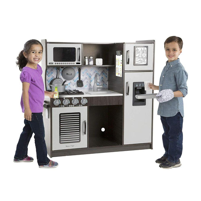 Melissa & Doug Chef's Play Kitchen Charcoal