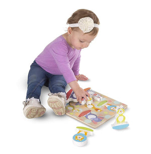Melissa & Doug First Play Safari Chunky Puzzle Wooden