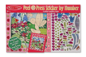Melissa & Doug Flower Garden Fairy Sticker By Number / Peel 'n Press Kit