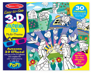 Melissa & Doug Girl 3D Colouring In Book