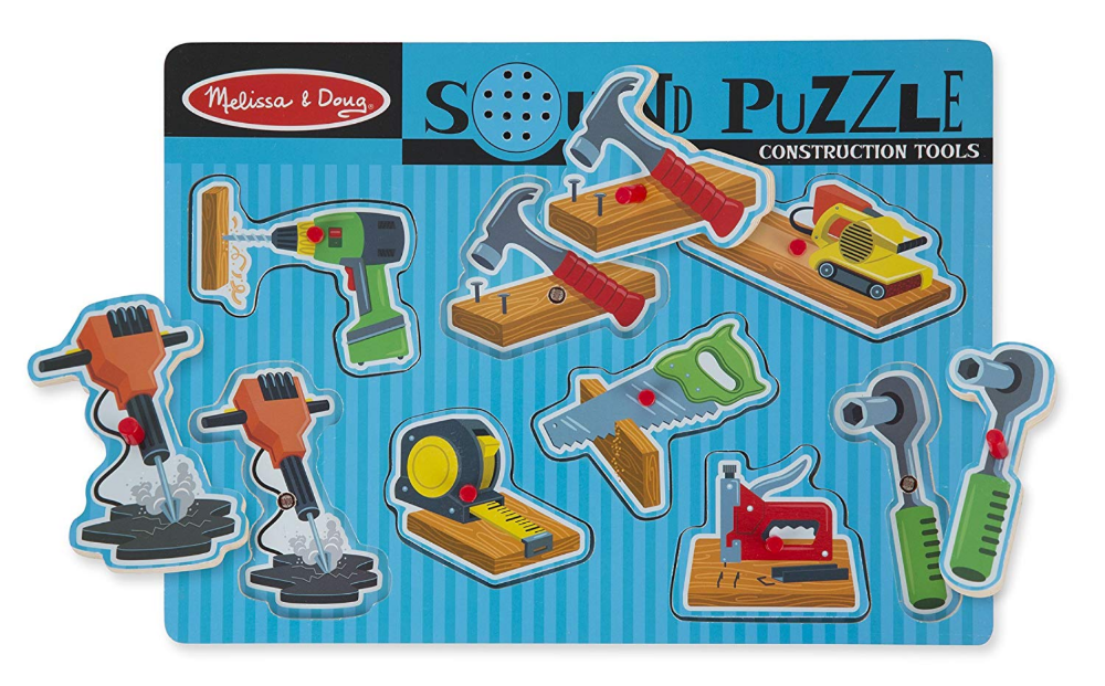 Melissa & Doug Construction Tool Sound Puzzle