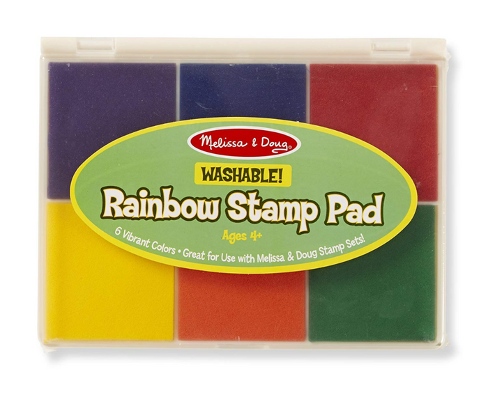 Melissa & Doug Rainbow Stamp Pad/ 6 Washable Inks.