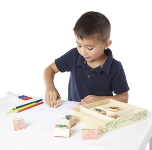 Melissa & Doug Dinosaur Wooden Stamp Set