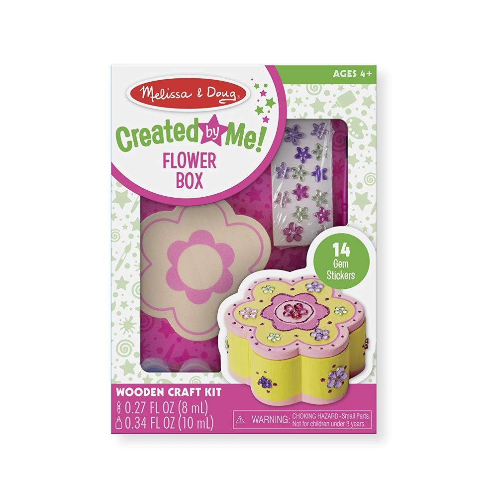 Melissa & Doug Created by Me! Flower Box Wooden Craft Kit