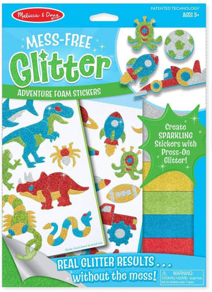 Melissa & Doug Adventure Foam Stickers - Mess Free Glitter