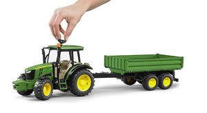 Bruder John Deere 5115M With Tipping Trailer