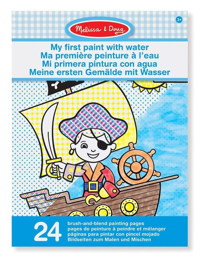 Melissa & Doug My First Paint With Water Kids Art Pad With Paintbrush