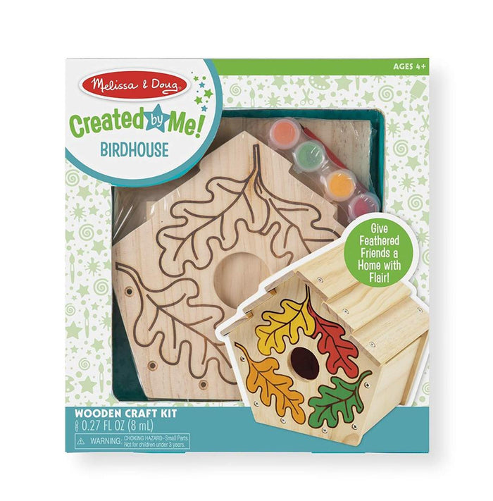 Melissa & Doug Build-Your-Own Wooden Birdhouse Craft Kit