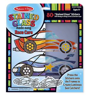Melissa & Doug Peel 'n Press Stained Glass: Race Car Ornaments.
