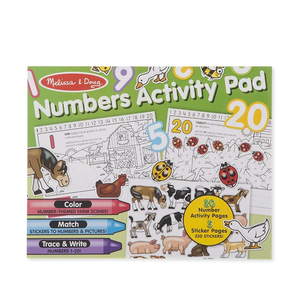 Melissa Doug Numbers Coloring And Sticker Activity Pad