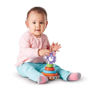 Melissa & Doug First Play Wooden Elephant Rocking Stacker
