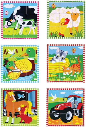 VIGA Farm Animal Cube Puzzle (9PC)
