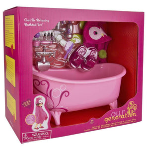 Our Generation Deluxe Owl Be Relaxing Bathtub Playset