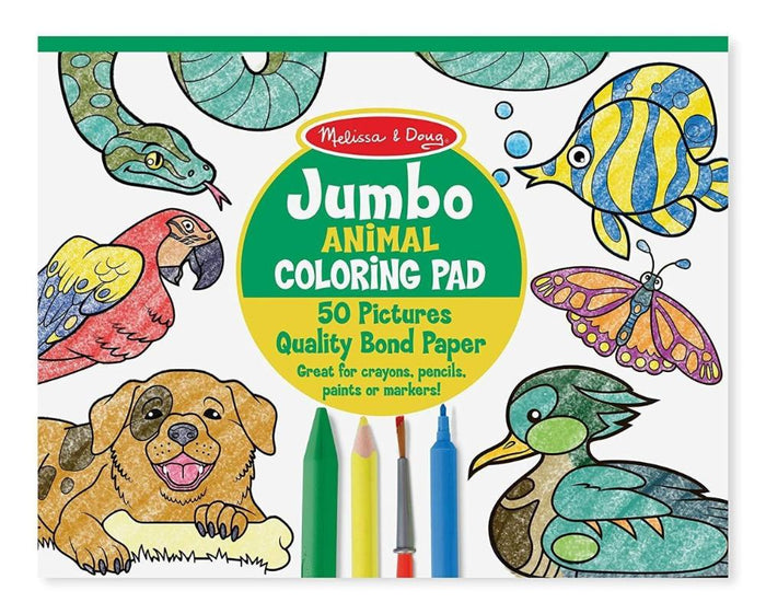 Melissa & Doug Jumbo Coloring Pad Animals