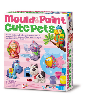 4M Mould & Paint Cute Pets Kit