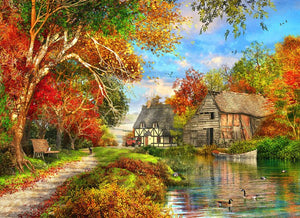 Adult Puzzle - Autumn Barn 1500 Pieces
