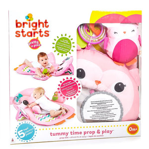 Bright Starts Prop & Play Tummy Time Mat Owl