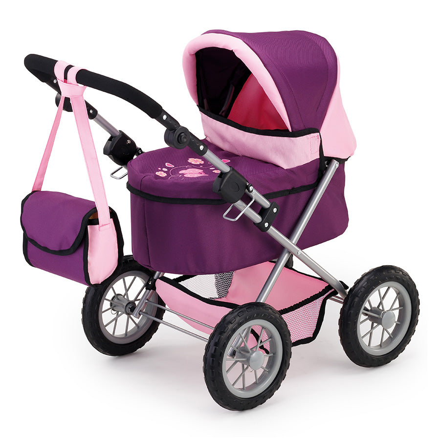 Bayer Trendy Doll's Pram (Purple/Pink)