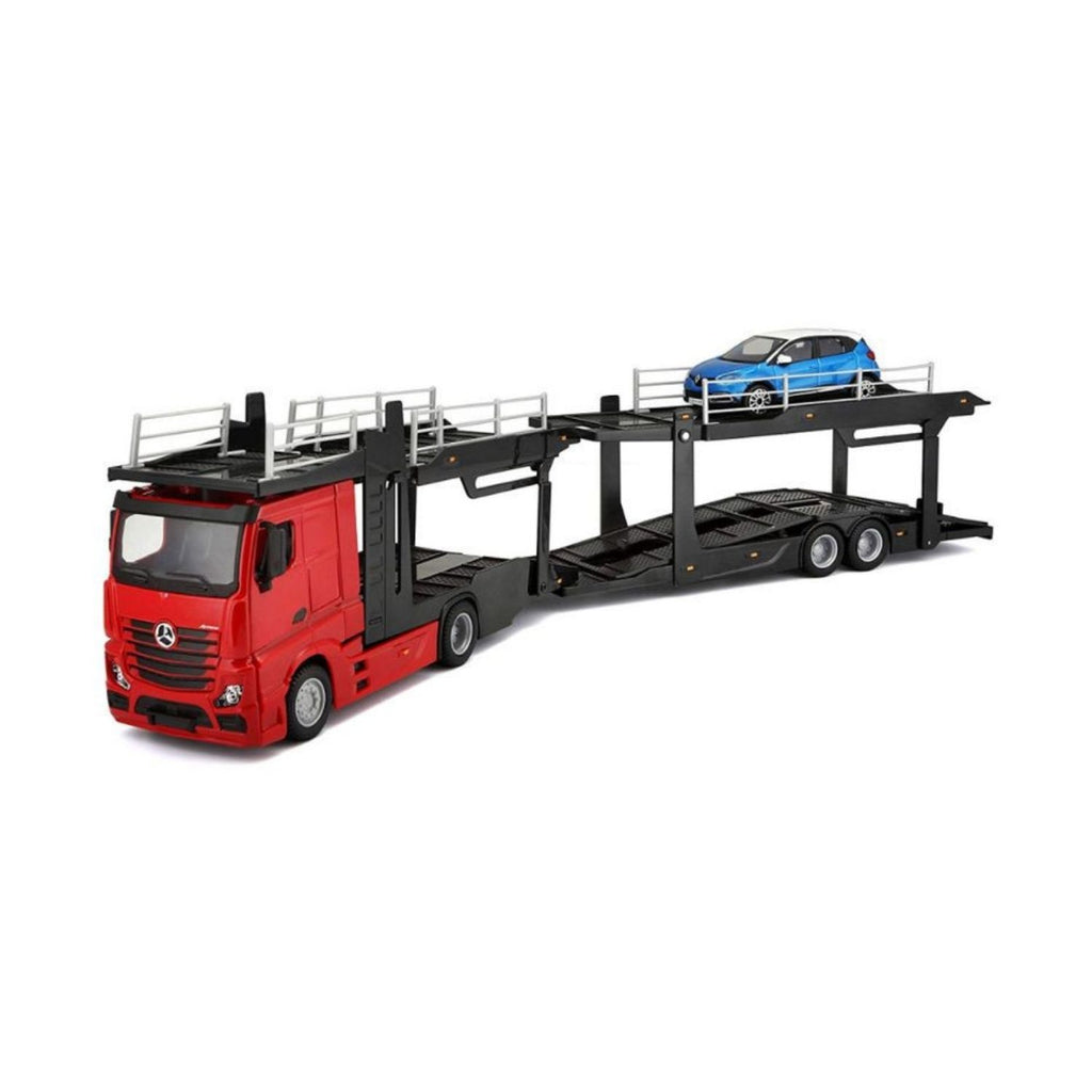 Bburago Street Fire Mercedes-Benz Actros Multicar Carrier Red Truck 1:43