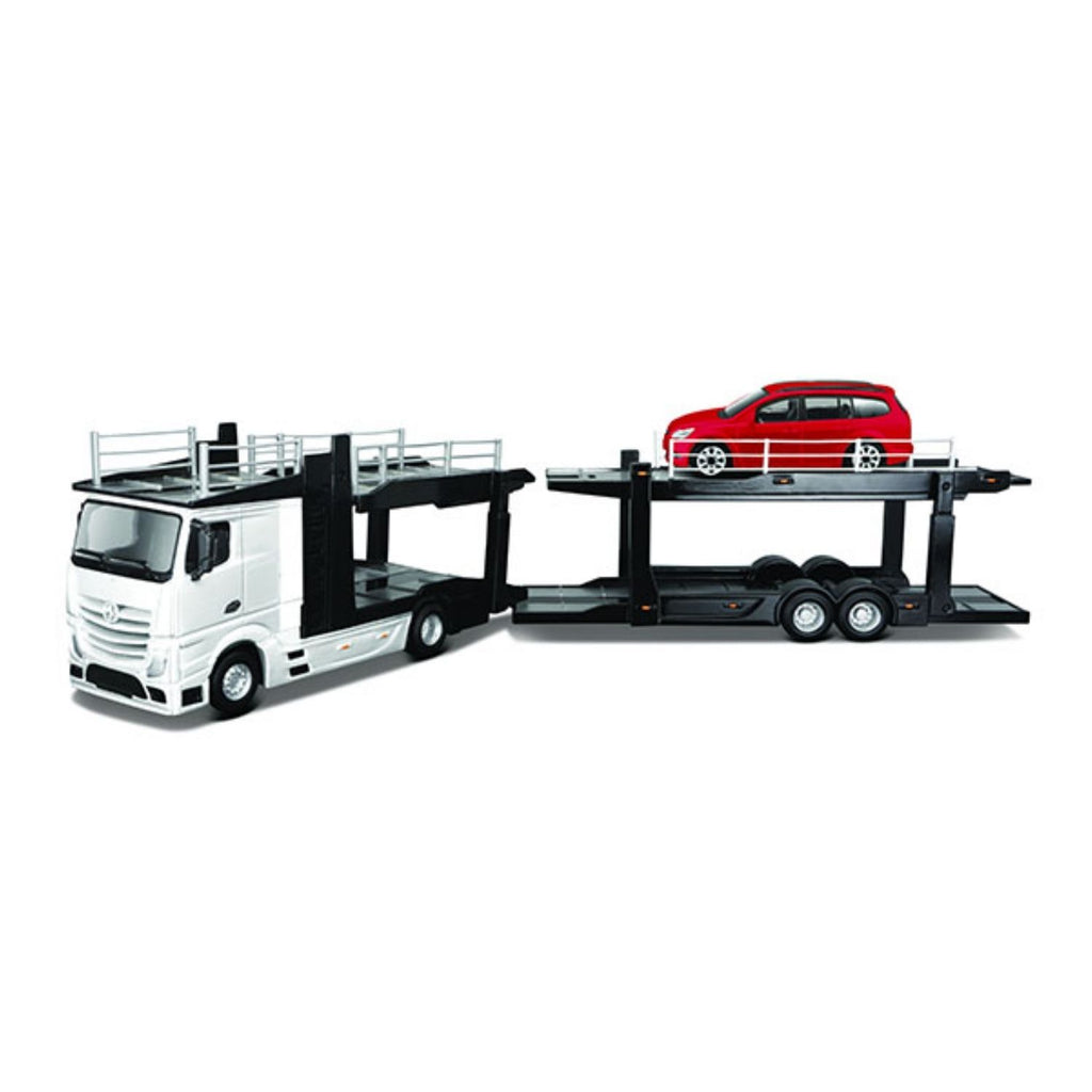 Bburago Street Fire Mercedes-Benz Actros Multicar Carrier White Truck 1:43