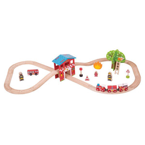 Big Jigs – Fire Station Train Set