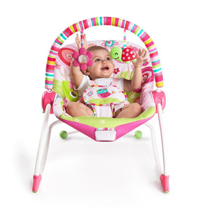 Bright Starts Infant To Toddler Rocker Raspberry Garden