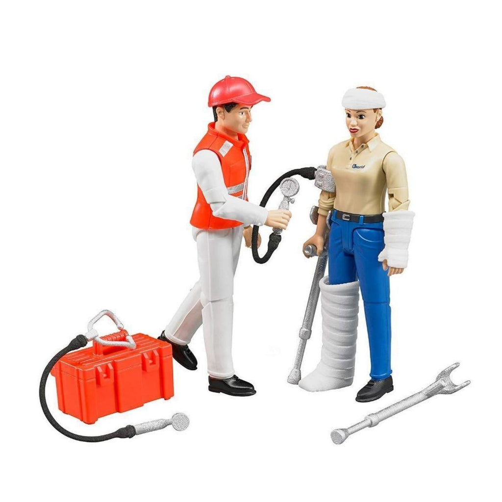Bruder Toy Ambulance Figure Set