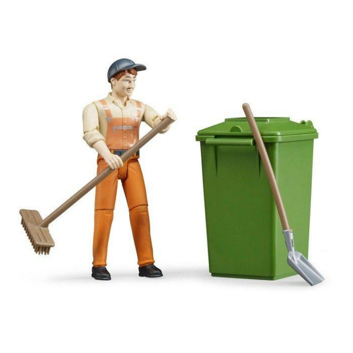 Bruder Waste Disposal Toy Figure Set