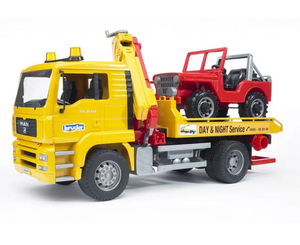 Bruder MAN TGA Breakdown Truck With Cross Country Vehicle