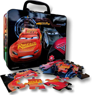 Cars 3 Puzzle in Lunch Tin