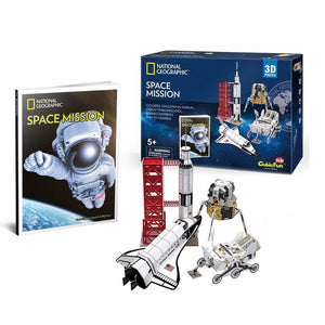 National Geographic Space Mission 3D Puzzle - 80 Pieces