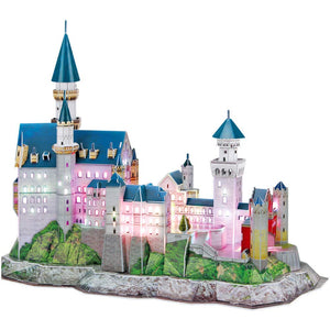 CubicFun Neuschwanstein Castle (Germany) 3D Puzzle 128pc With LED Unit