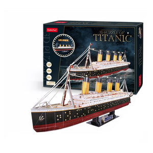 Cubicfun Titanic 3D Puzzle 266PCS With LED Unit