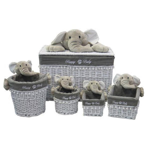 Elephant Storage Basket Set - 5 Piece