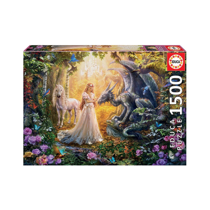 Educa Dragon, Princess And Unicorn Adult Puzzle 1500 Pieces