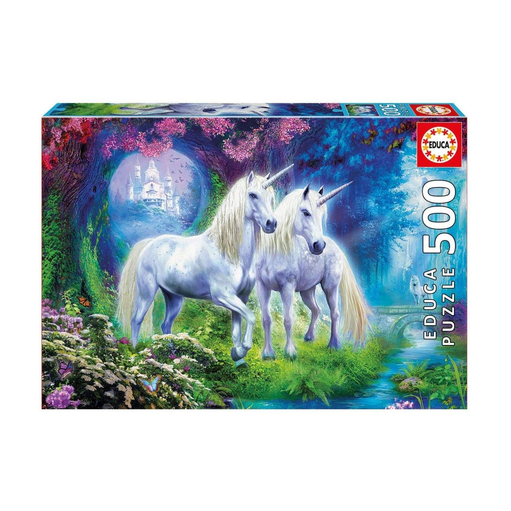 Educa Unicorns In The Forest Adult Puzzle 500 Pieces