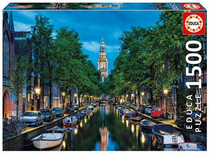 Educa Amsterdam Canal At Dusk - 1500pcs Adult Puzzle