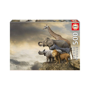 Educa Animals On The Edge Of A Cliff - 500pcs Adult Puzzle
