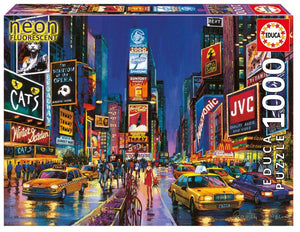 Educa Neon Times Square, New York - 1000pcs Adult Puzzle