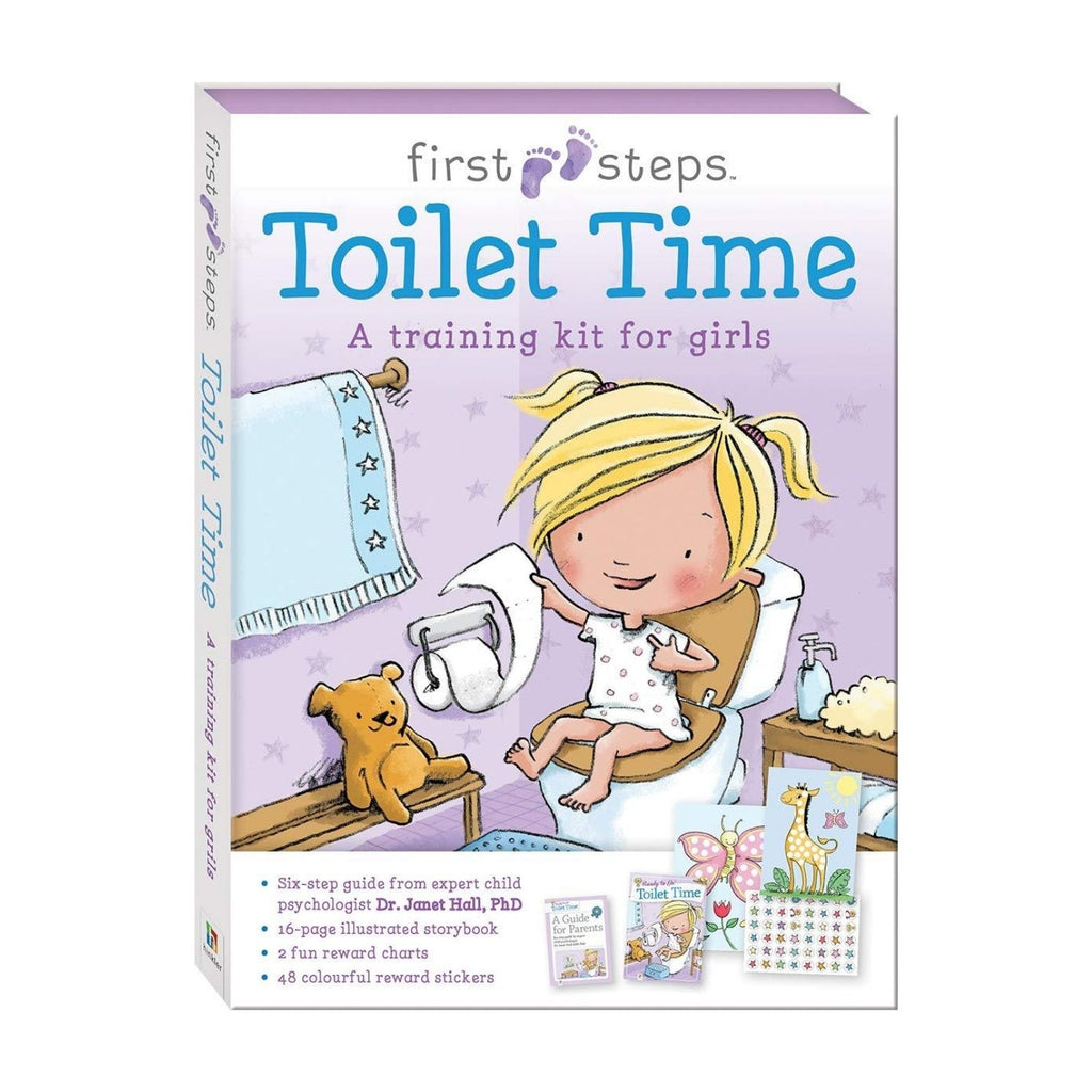First Steps Ready To Go Toilet Time Training Kit For Girl