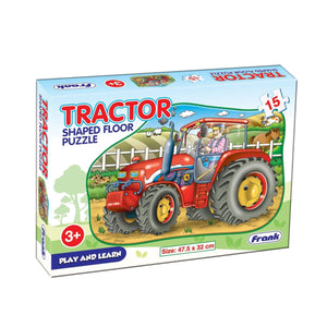 Frank Tractor Shaped Floor Puzzle - 15 Pieces