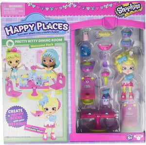 Happy Places Shopkins Rainbow Pack - Pretty Kitty Dining Room
