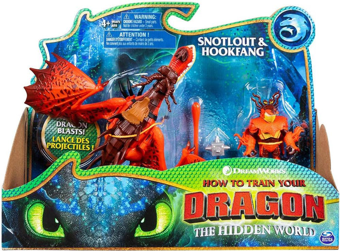 How To Train Your Dragon Dragon & Viking - Snotlout & Hookfang