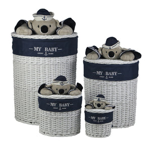 Round Koala Storage Basket Set - 4 Piece