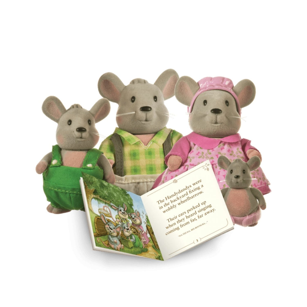 Li'L Woodzeez Mouse Family With Book